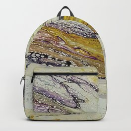 Planet of reptiles, abstract, acrylic on canvas Backpack