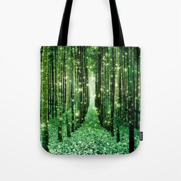 Magical Forest Green Elegance Tote Bag