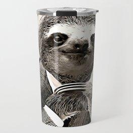 Gentleman Sloth in Smart Posture Travel Mug