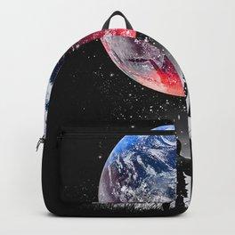 eart red blue dream Backpack