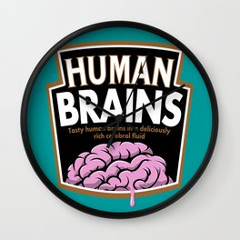 Human Brains Wall Clock