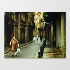 Barcelona Old Lady Canvas Print
