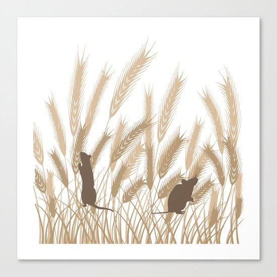 Mice In The Grain No. 2 Canvas Print