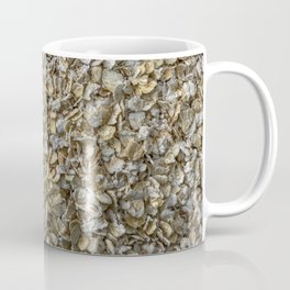 Top view shot of Oatmeal texture. Coffee Mug