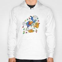 donald duck Hoodies featuring Funny Angry Donald Duck by Yuliya L