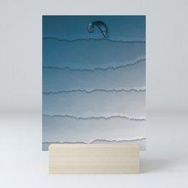 Parakite Cool 1 (wavy lines) Mini Art Print