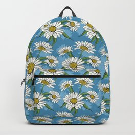 Hand Drawn Daisy Spring Flower Pattern Backpack