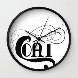Coat Wall Clock