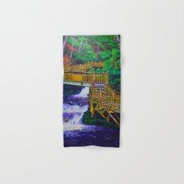 Stairs at Bushkill Falls Hand & Bath Towel