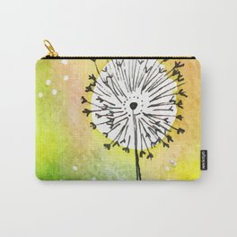 Watercolor Dandelion - Make a wish Carry-All Pouch