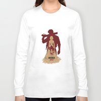 bioshock infinite Long Sleeve T-shirts featuring Bioshock Infinite - Booker and Elizabeth by Art of Peach