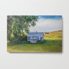 Tiny House, Big Tree, North Dakota 2 Metal Print