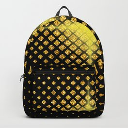 Art Deco Avant-garde Starburst Diamond Pattern Backpack