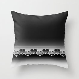 Heart lenses pattern Throw Pillow