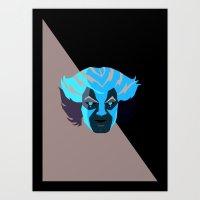 thundercats Art Prints featuring Tygra - Thundercats by Camilo