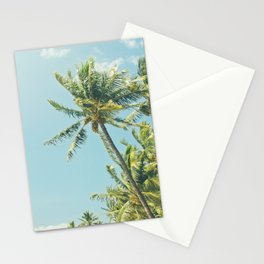 Kenolio Beach Hawaiian Coconut Palm Trees Kīhei Maui Hawaii Stationery Cards