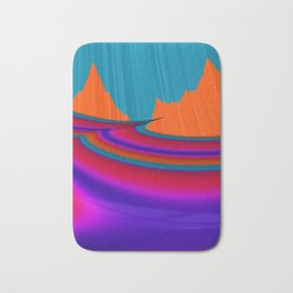 Two Mountain Peaks Abstract Art Bath Mat