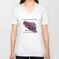 vw V-neck T-shirts featuring VW  by Valerie Agrusa Photography