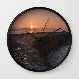 Sunset Over the Cobb III Wall Clock