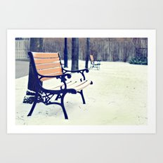 One snowy morning... Art Print