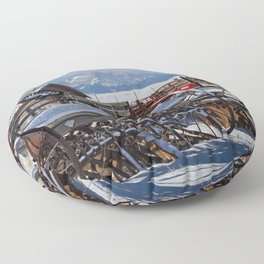Drill Disc And Peak Floor Pillow