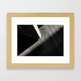 Shadow Light Door Abstract One Framed Art Print