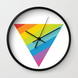 Pride: Rainbow Triangle Wall Clock