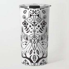 La Vie + La Mort: Black Ink Travel Mug