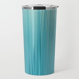 Abstract Modern Teal Ivory Gradient Brushstrokes Travel Mug