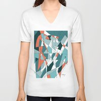 golf V-neck T-shirts featuring Golf by Carmen Navajas