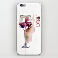 wine iPhone & iPod Skins featuring Wine by tatiana-teni