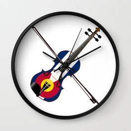 Colorado Fiddle Wall Clock