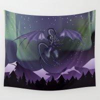 aurora Wall Tapestries featuring Aurora by Melissa Dekker