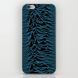 Joy Division - Unknown Pleasures [Blue Lines] iPhone Skin