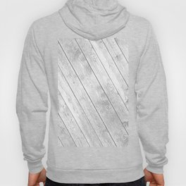 Rustic country white gray abstract wood  Hoody
