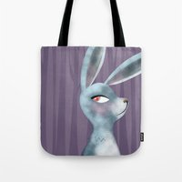 bunny Tote Bags featuring Bunny by makoshark