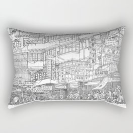 Hong Kong. Kowloon Walled City Rectangular Pillow