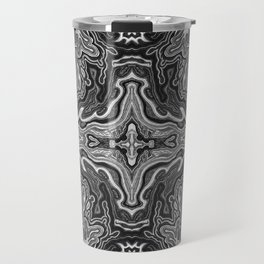 Abstract #4 - V - High Contrast Black & White Travel Mug