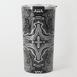 Abstract #4 - V - High Contrast Black & White Travel Mug