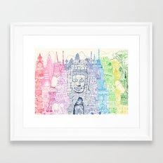 Angkor Wat & Thailand Framed Art Print