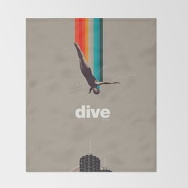 Dive Into My Soul Throw Blanket