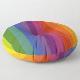 Color Wheel Lines Floor Pillow