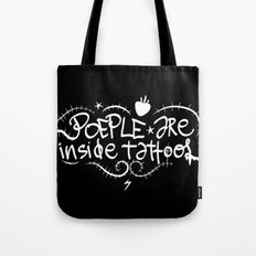 People are inside tattoos - Emilie Record Tote Bag