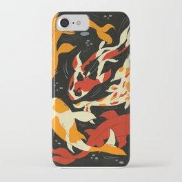 Koi in Black Water iPhone Case