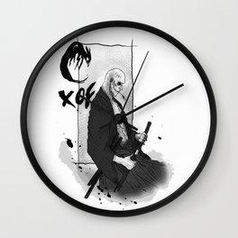 Samurai Skullface Wall Clock