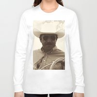 cowboy Long Sleeve T-shirts featuring Cowboy by DistinctyDesign