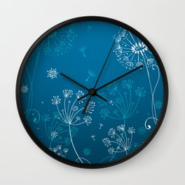 Night dandelions Wall Clock