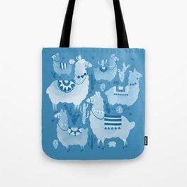 Alpacas and cacti Tote Bag