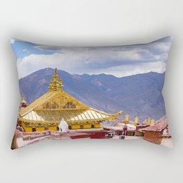 Tibet: Ganden Buddhist Monastery Rectangular Pillow