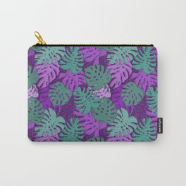 Pattern with monstera leaves Carry-All Pouch